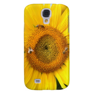 Sunflower with Bees Galaxy S4 Cover