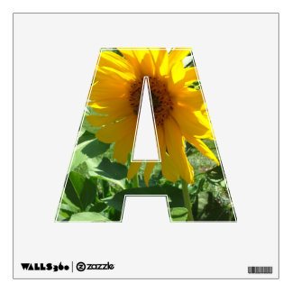 Sunflower with Bees Wall Sticker