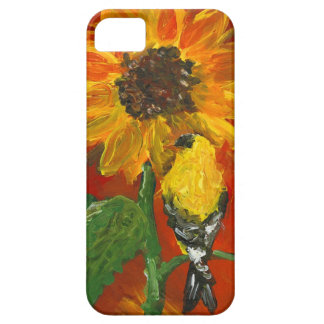 Sunflower with Goldfinch iPhone 5 Covers