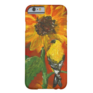 Sunflower with Goldfinch Barely There iPhone 6 Case
