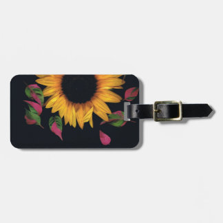 Sunflower with leaves bag tag