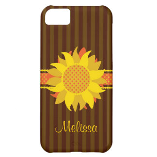Sunflower with Name Case-Mate Case iPhone 5C Case