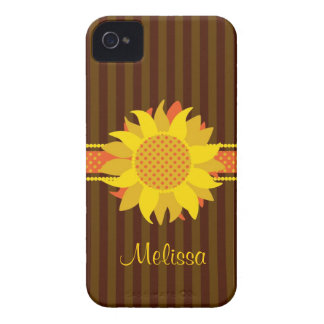 Sunflower with Name Case-Mate Case iPhone 4 Cases
