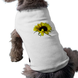 Sunflower With Naturally Curly Hair Pet T-shirt