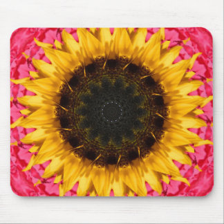 Sunflower with Pink Mouse Pad