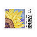 Sunflower with Purple Buttons Postage