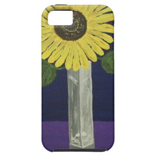 Sunflower with square vase still life iPhone 5 cover
