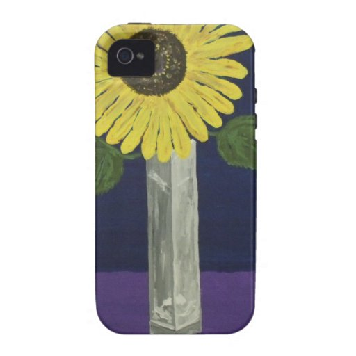 Sunflower with square vase still life vibe iPhone 4 covers