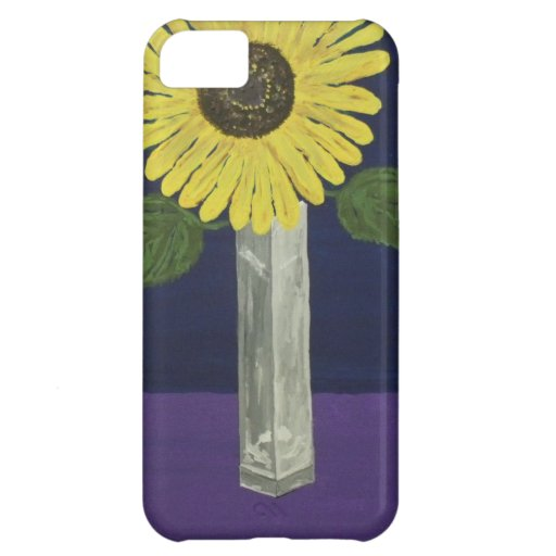 Sunflower with square vase still life iPhone 5C cover