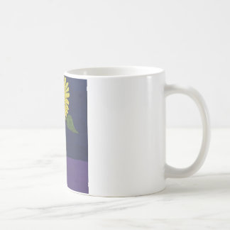 Sunflower with square vase still life coffee mug