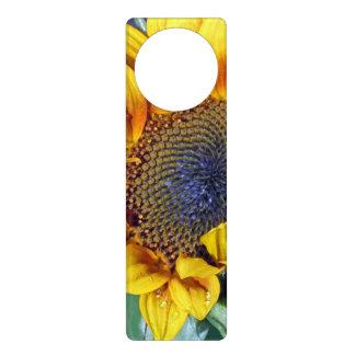 Sunflower with Water Droplets Door Knob Hangers