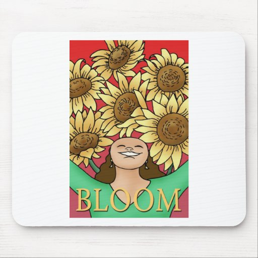 Sunflower Woman -- Bloom! Mouse Pad