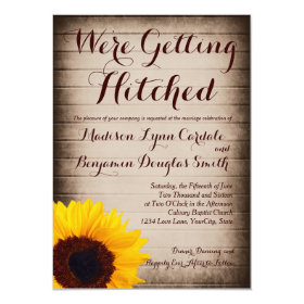 Sunflower Wood Getting Hitched Wedding Invitations
