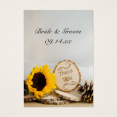 Sunflower Woodland Thank You Wedding Favor Tags at Zazzle