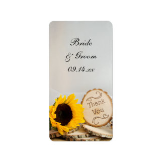 Sunflower Woodland Wedding Thank You Favor Tags