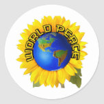Sunflower world peace stickers