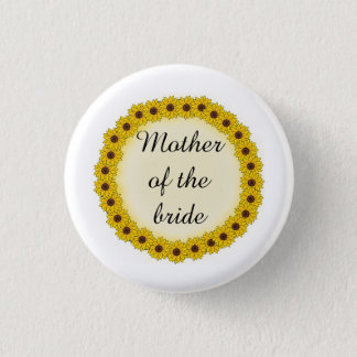 Sunflower Wreath Mother/Grandmother of the Bride Button