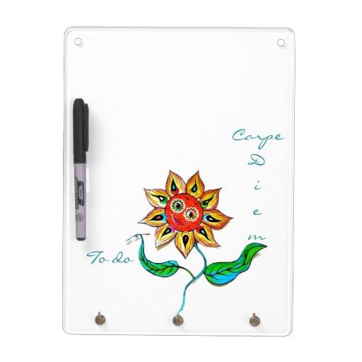 Sunflower Writer CarpeDiem Dry Erase Board