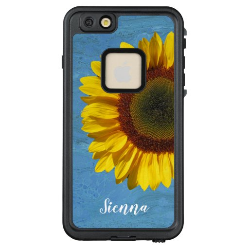 Sunflower Yellow Blue Personalized LifeProof FRĒ iPhone 6/6s Plus Case