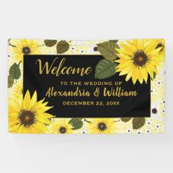 Sunflower Yellow Floral Garden Wedding Banner