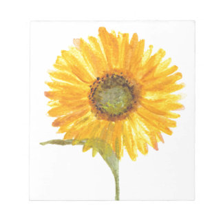 Sunflower yellow flower watercolor notepad