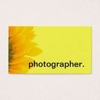 Sunflower Yellow Macro Floral Photo | Photographer Business Card