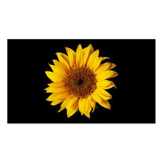 Sunflower Yellow on Black - Customized Sun Flowers Business Card