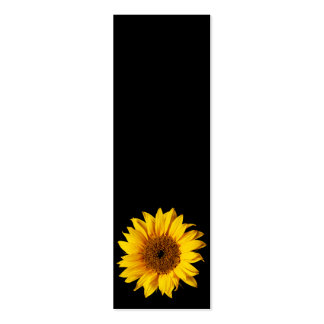 Sunflower Yellow on Black - Customized Sun Flowers Double-Sided Mini Business Cards (Pack Of 20)