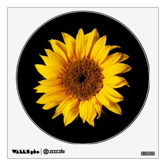 Sunflower Yellow on Black - Customized Sun Flowers Wall Decal