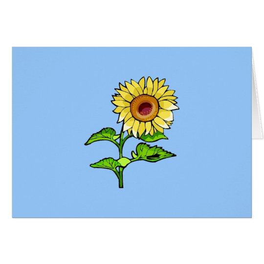 Sunflower Yellowlogo Card