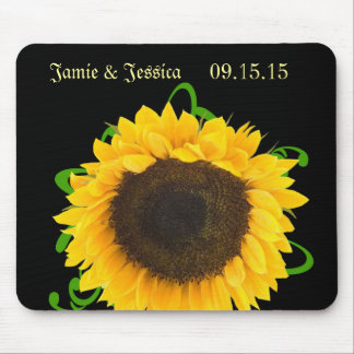 Sunflower You choose Background Color MousePad