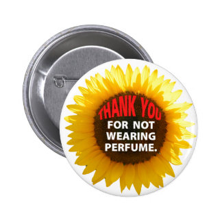 SunflowerNoPerfume Pinback Button