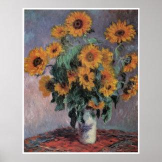 Sunflowers, 1881 Claude Monet Poster
