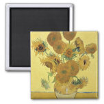 Sunflowers, 1888 2 inch square magnet