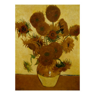 Sunflowers: 1888 by Van Gogh Poster