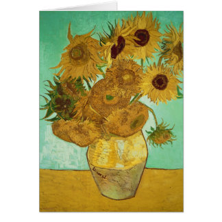 Sunflowers, 1888 card