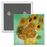 Sunflowers, 1888 pinback button