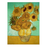 Sunflowers, 1888 post card