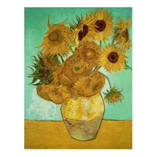 Sunflowers, 1888 postcard