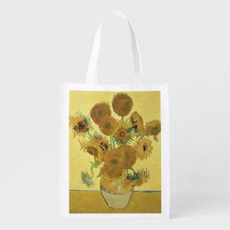 Sunflowers, 1888 reusable grocery bag