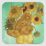 Sunflowers, 1888 square sticker