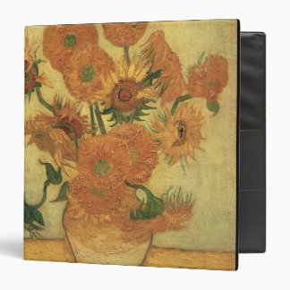 Sunflowers, 1889 (oil on canvas) 3 ring binders