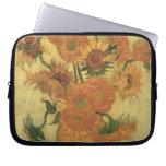 Sunflowers, 1889 (oil on canvas) laptop computer sleeve