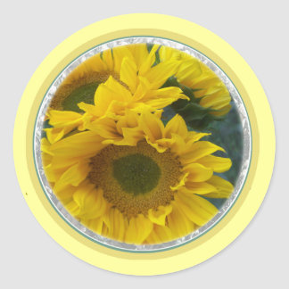 Sunflowers 1a classic round sticker