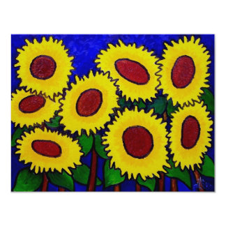 Sunflowers 24 by Piliero 4.25x5.5 Paper Invitation Card