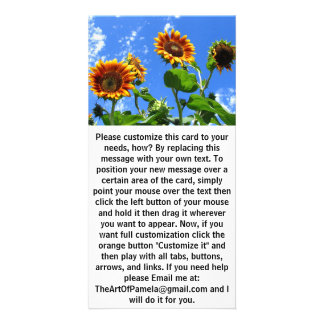 Sunflowers 2 card