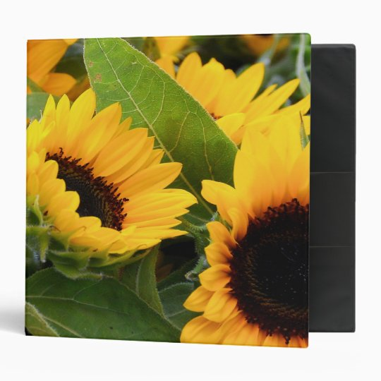 Sunflowers 2 Inch 3 Ring Binder