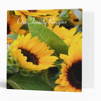 Sunflowers 2 inch Recipes Vinyl Binders