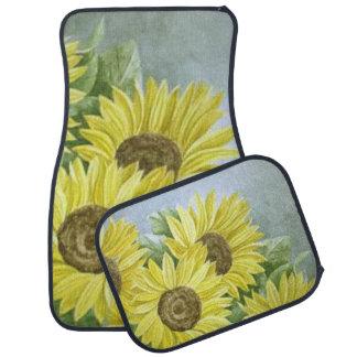 Sunflowers 3 car mat
