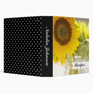 Sunflowers 3 Ring Binder